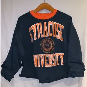 Syracuse cropped sweatshirt